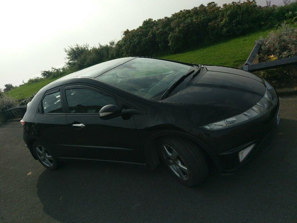 Black 2006 Honda Civic 2.2 cdti,f.s.h,panoramic roof,aircon,auto wipers....