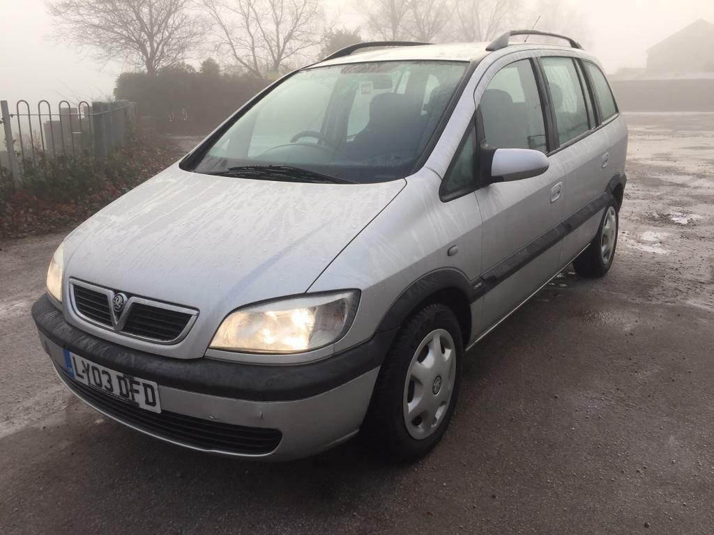 2003 vauxhall zafira 2 0 dti 7 seater 8 mth mot silver in biddulph staffordshire gumtree. Black Bedroom Furniture Sets. Home Design Ideas