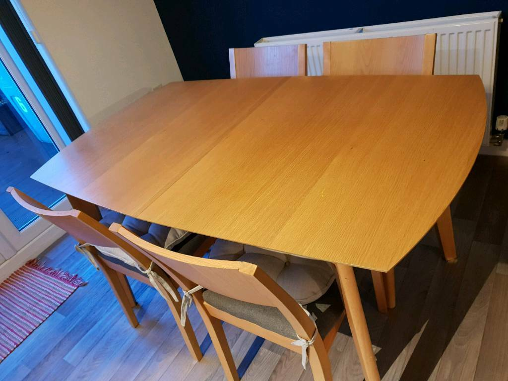 4 seater extendable dining table fancy dining seater extendable dining table in coatbridge north lanarkshire