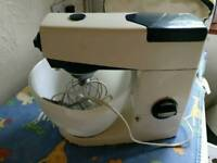 Vintage Kenwood Chef mixer with attachments