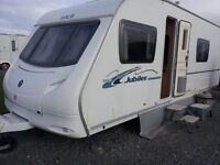 2008 TWIN AXLE FIXED BED ACE JUBILLEE VISCOUNT. END BATHROOM. 1 OWNER. LOVELY VAN. .