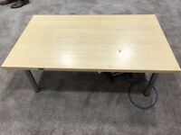 Solid Wooden Living Room Large Coffee Table With Metal Legs