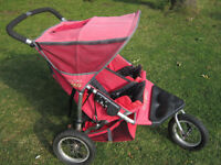 Out and About / OutnAbout Double/ Twin Nipper 360 Pushchair/ Stroller