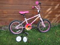 Apollo Roxie girls bike 16 inch wheels with stabilisers suit age 5 to 7 years