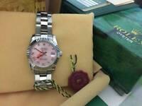 LADIES Rolex Datejust Pink Roman Numerals Dial