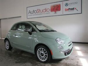 Fiat 500c lounge **convertible**cuir**mags** 2012