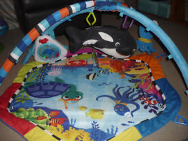 Baby Gym Play Mat Baby Einstein Under The Sea Lights and sounds New Batteries Used as spare