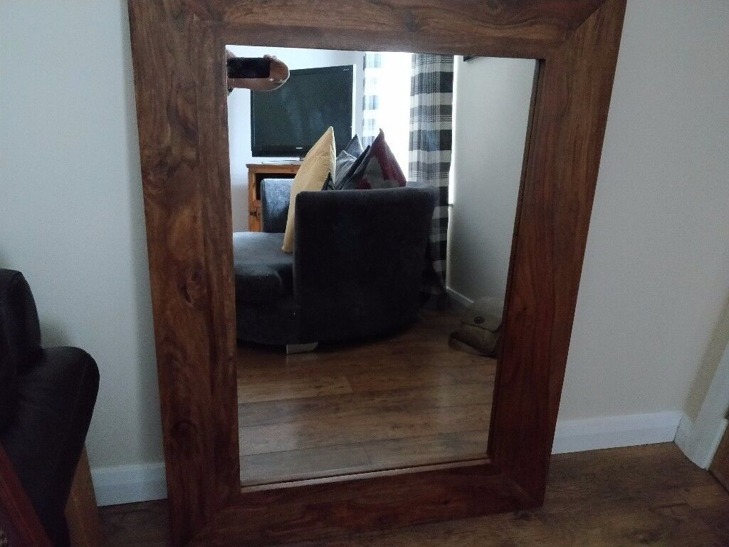 PRICE REDUCTION!!! SOLID OAK CREATIONS MIRROR