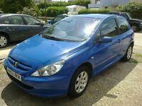Peugeot 307, 89K miles, reg 2002, Blue