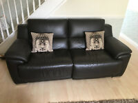 Touch Button Electric Recliners 3 seater and 2 Seater Harveys Leather sofa's