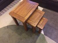 Wooden oak coffee tables