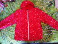Red kids coat good for camping