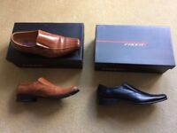 Mens 'Front' Formal / Casual Shoes, 1 new black pair, other tan pair worn twice. Size 10 (euro 44)