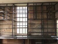 Mild steel shelving