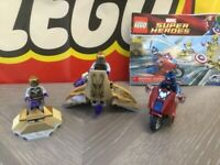LEGO 6865 Marvel The Avengers - Captain America's Avenging Cycle - 100% Complete
