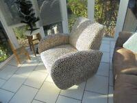 advent chair. snowflake design.