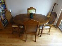 Dining Room Table Set Extendable 6 Seater with 2 Carver Chairs