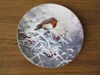 Four wedgwood bone china wall plates