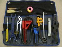 Set of plumbing tools