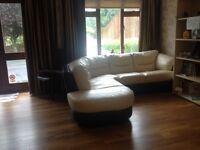 Italian leather corner suite