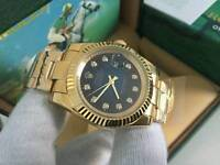 New Swiss Men's Rolex Oyster Datejust 2 Perpetual Automatic Watch, Navy Blue dial