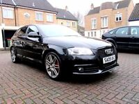 AUDI A3 2.0 TDI S LINE BLACK EDITION 5 DOOR HATCHBACK FSH HPI CLEAR EXCELLENT CONDITION
