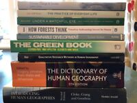 Geography, Anthropology and Sociology academic books