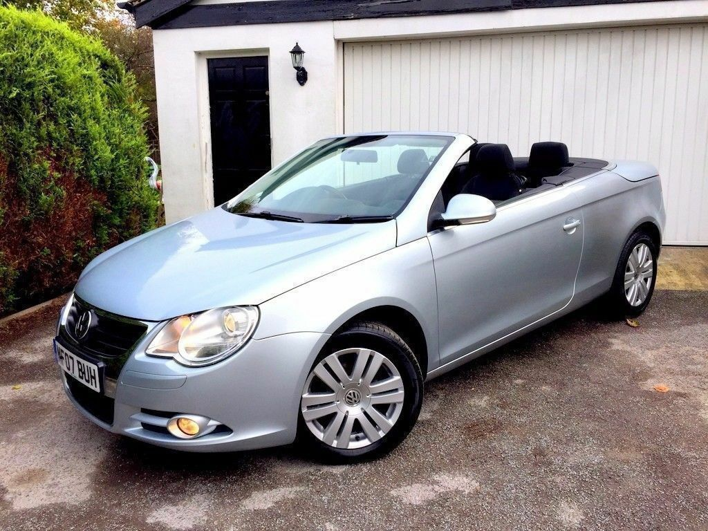 cabrio 2007 volkswagen eos 2 0 fsi silver convertible. Black Bedroom Furniture Sets. Home Design Ideas