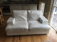 WHITE LEATHER SOFA - from DFS