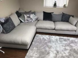 DFS large left hand corner sofa for sale. 7 months old
