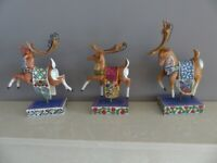 Christmas Reindeer ornaments from Hartwood Creek Collection.