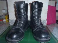 Black Leather Parade Boots