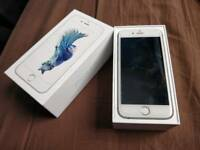 * Apple iPhone 6S. UNLOCKED 16gb, Silver boxed charger fully working