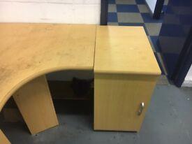 Office desks and large unit