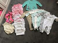 0-3 month baby clothes (mostly girls)