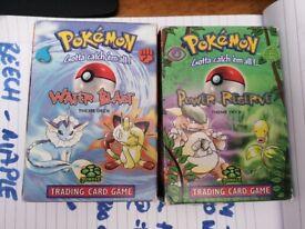 Pokemon cards - original theme decks with base set cards