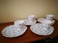 Royal Tuscan Cup and snack plate set.