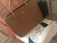 Authentic 2013 tan Prada bag