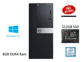Dell OptiPlex 5060 MT Core i5-8500 3.0GHz 8GB RAM 512GB SSD Win 10 PC