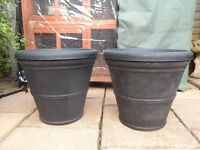 large black garden pots