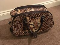 Leopard Print Holdall/Suitcase