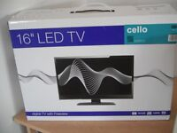 """Cello 16"""" Television for Sale, Digital/freeview"""