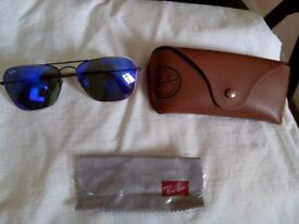 Rarely used authentic Rayban Caravan 3136 model 16766 .