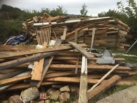 Large amount of unwanted timber for free