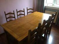 Dining table and 6 chairs - £135ono