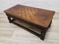 Antique Oak Coffee Table (DELIVERY AVAILABLE FOR THIS ITEM OF FURNITURE)