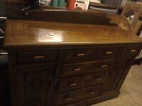1900 walnut solid wood sideboard
