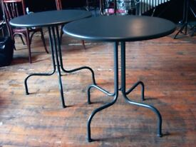 BAR TABLES. CIRCULAR METAL TABLES FOR YOUR HOME BAR, PATIO, KIDS ROOM ETC. £19 EACH.