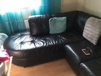 Black corner settee