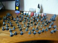warhammer 40k astra militarum (imperial guard) army + case + miniture gaming essentials